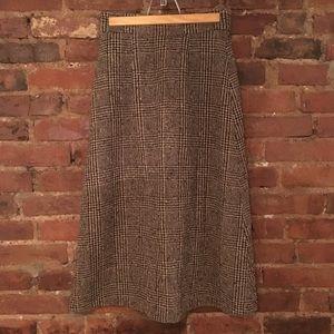 Vintage MaxMara wool midi skirt made in Italy